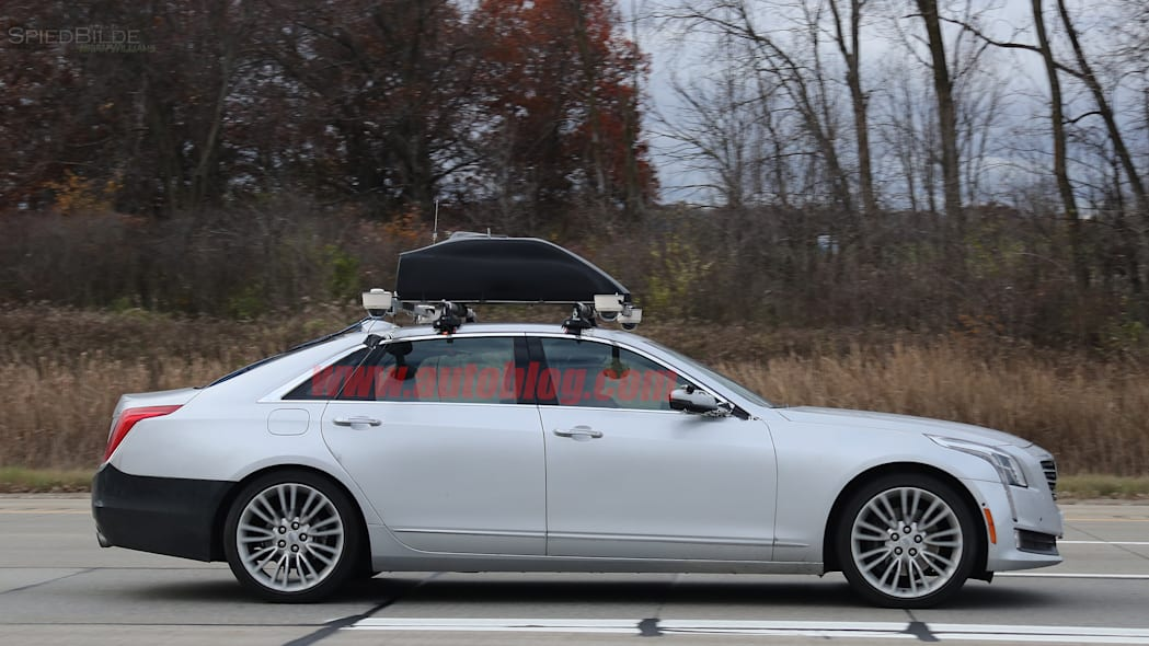 Cadillac CT6 Super Cruise Spy Shots Side Exterior