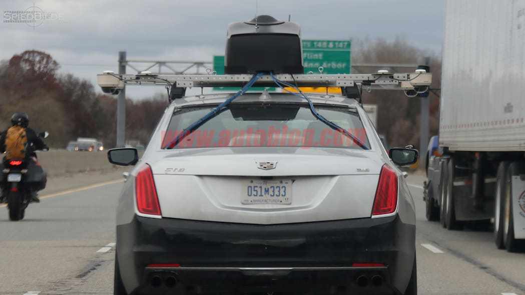 Cadillac CT6 Super Cruise Spy Shots Rear Exterior