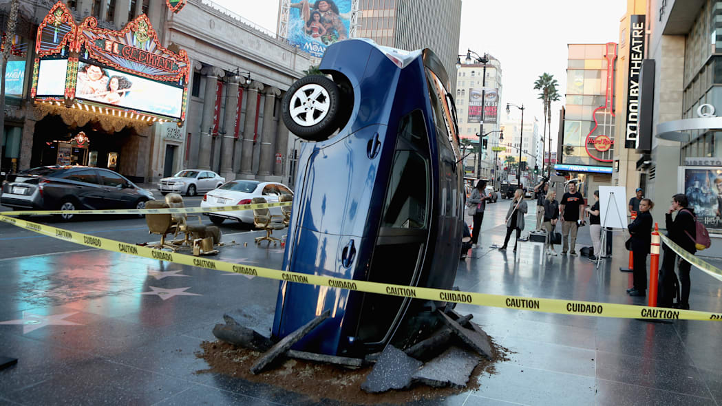 The Grand Tour Wrecked Toyota Prius In Los Angeles, CA