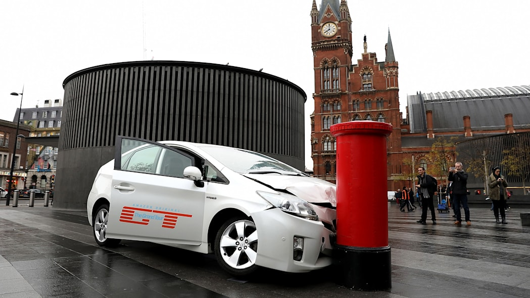 The Grand Tour Wrecked Toyota Prius In London, England