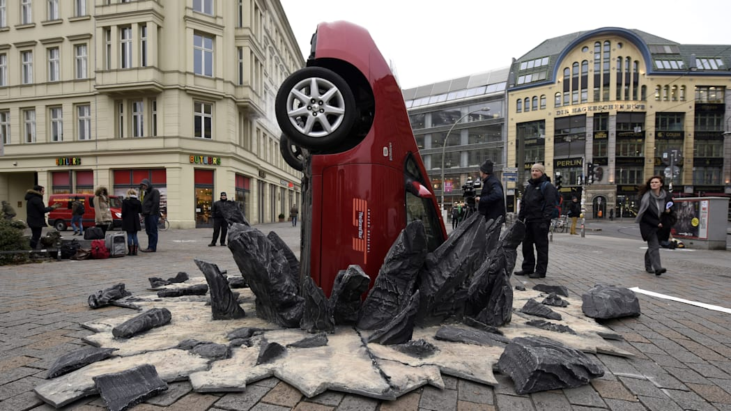 The Grand Tour Wrecked Toyota Prius In Berlin, Germany