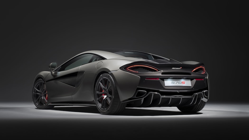 2017 McLaren 570S with Track Pack rear 3/4