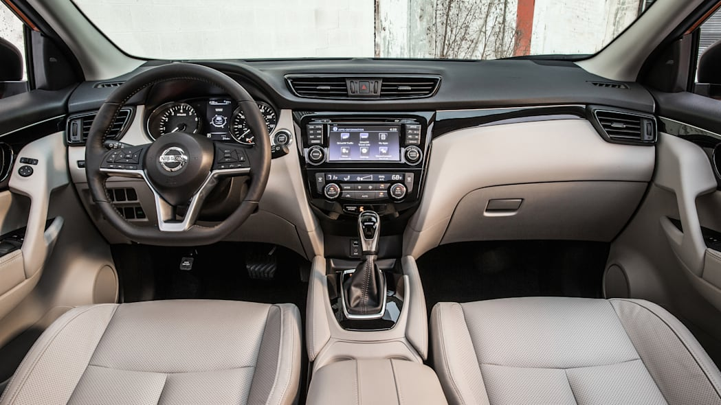 The 2017 Nissan Rogue, unveiled at the 2017 Detroit Auto Show, interior.