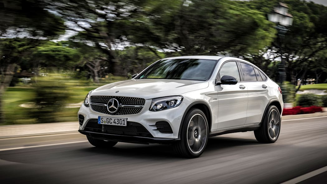2017 Mercedes-AMG GLC43 Coupe front three-quarter