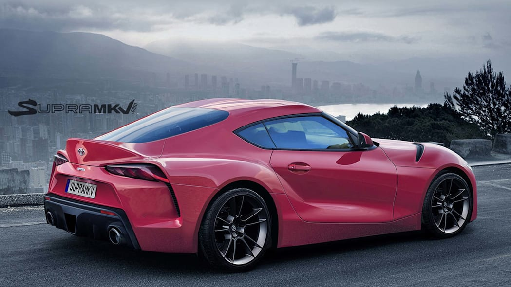 toyota supra rendering red side
