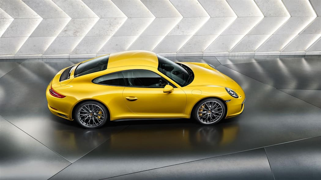 Porsche 911 in yellow