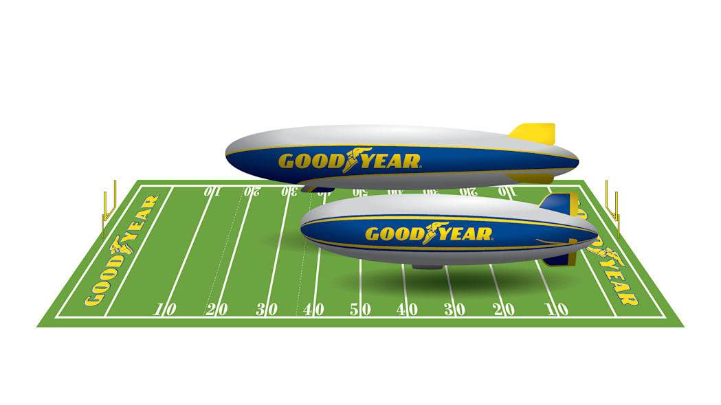 Goodyear blimp and zeppelin comparison