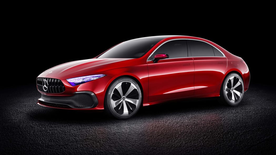 mercedes concept red
