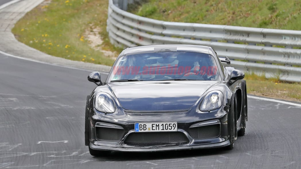 Next Porsche Cayman GT4 spied at the Nurburgring