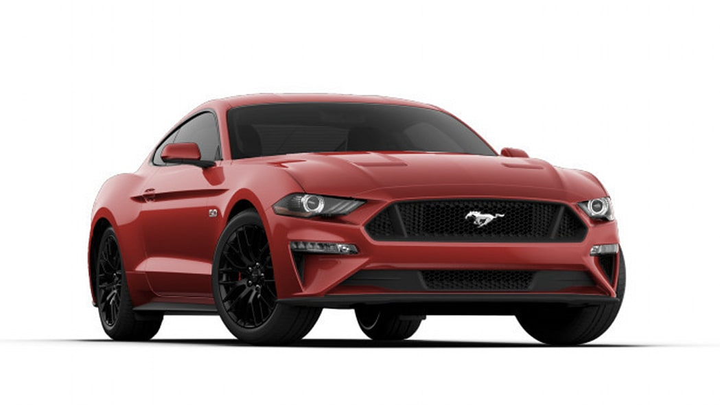 2018 Ford Mustang EcoBoost Coupe in red