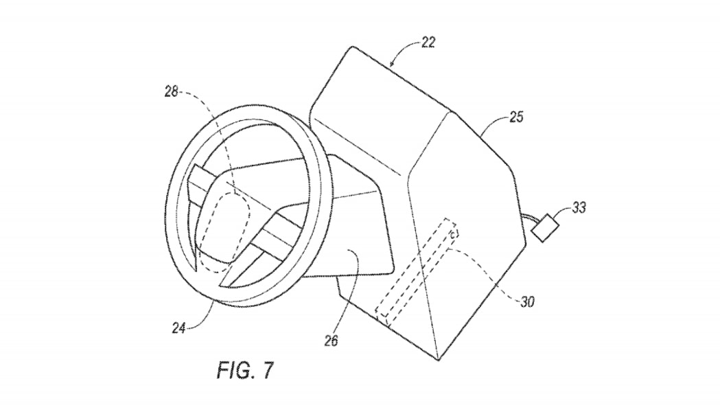 ford patent reveals removable steering wheel and pedals