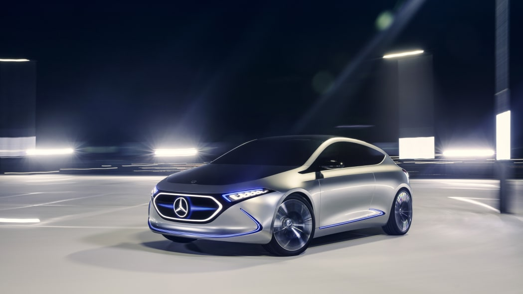 Mercedes Concept EQA revealed at the 2017 Frankfurt Motor Show, Mercedes Concept EQA revealed at the 2017 Frankfurt Motor Show, rolling shot.