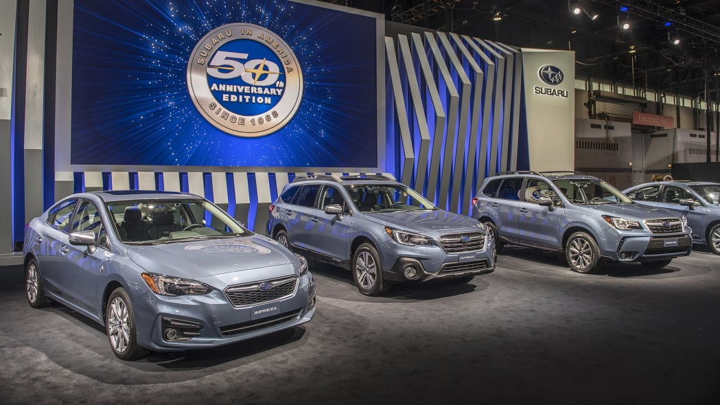 Subaru reveals special-edition cars for 50th anniversary ...