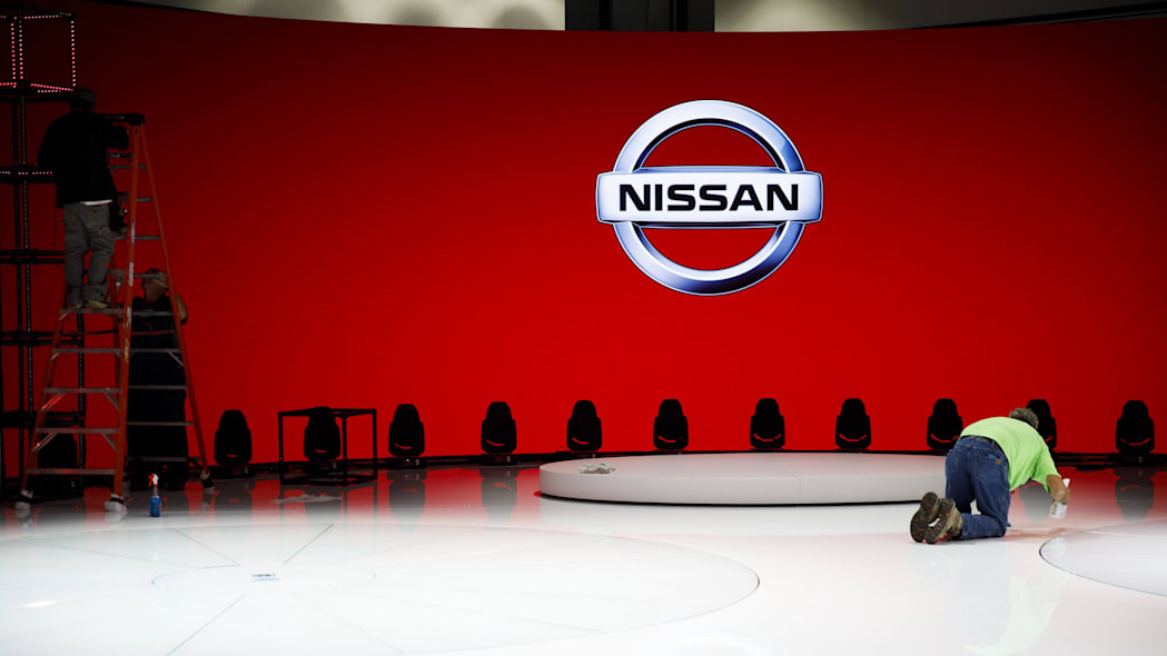 Nissan empty booth