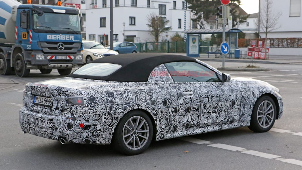 BMW 4 Series Convertible spy photos