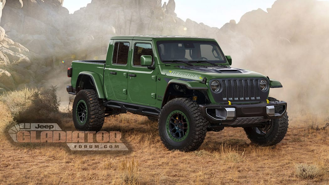 Jeep Gladiator high-performance model rendering