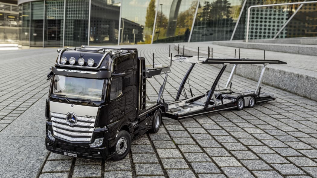Mercedes model truck and transport