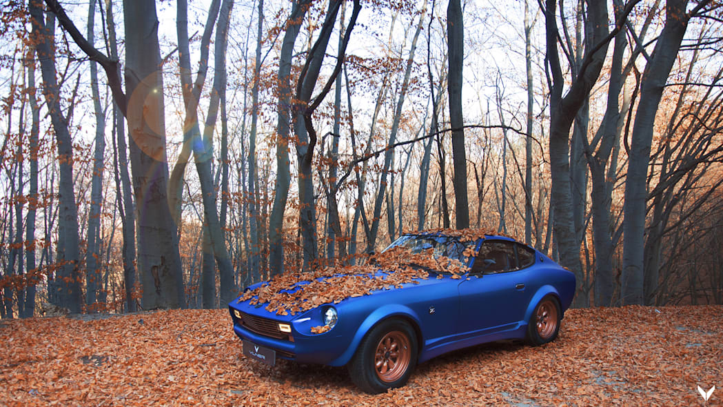 Vilner Datsun 280Z has been restomodded to blue and copper perfection