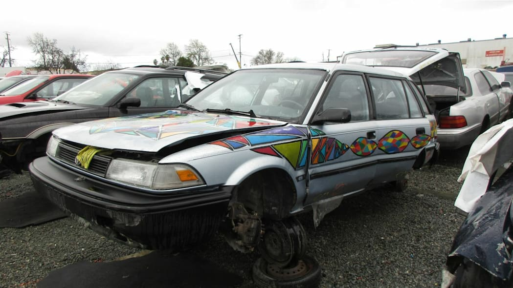 Junked 1991 Toyota Corolla station wagon