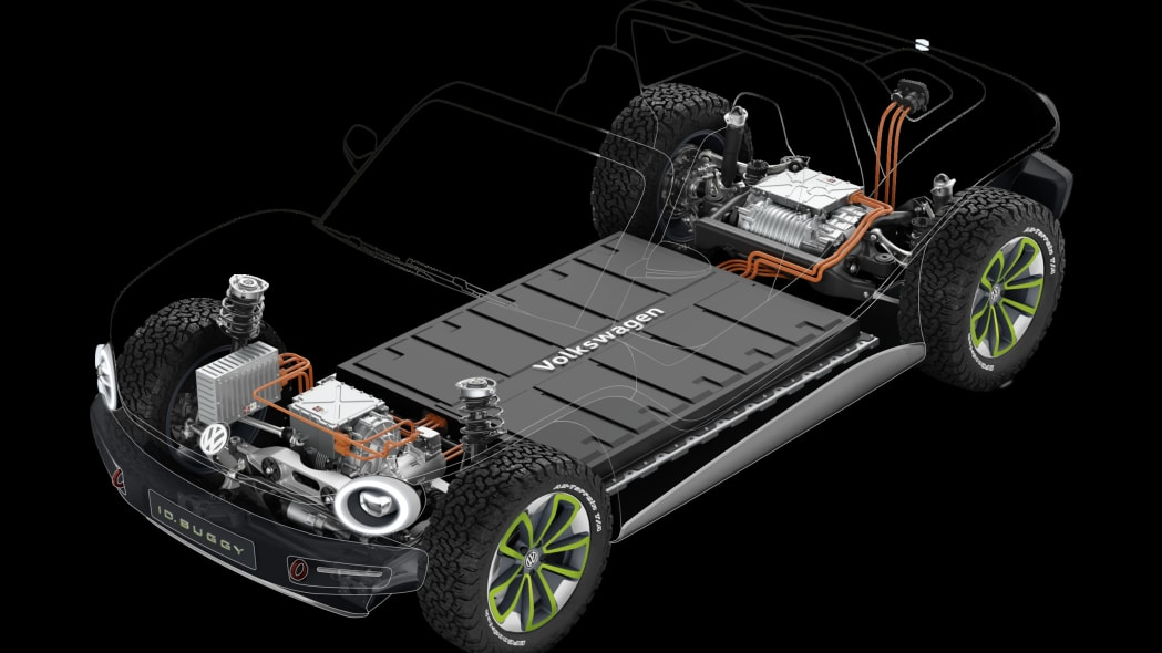 VW I.D. Buggy Concept in green