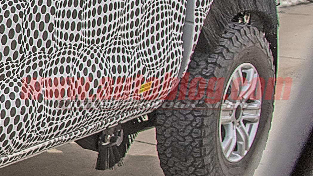 Ford Bronco spy shot