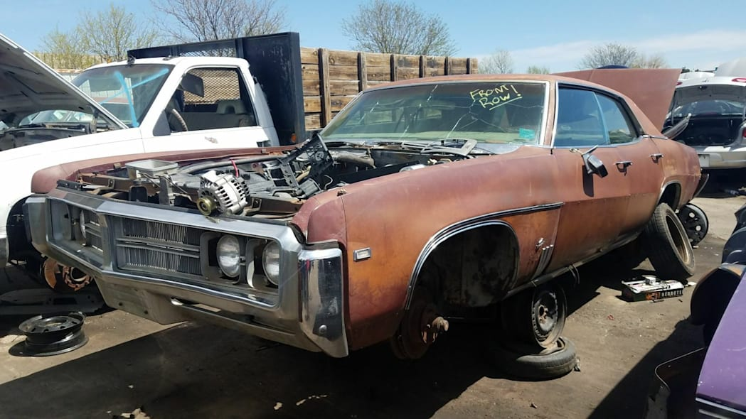 Junked 1969 Buick Wildcat 4-door hardtop