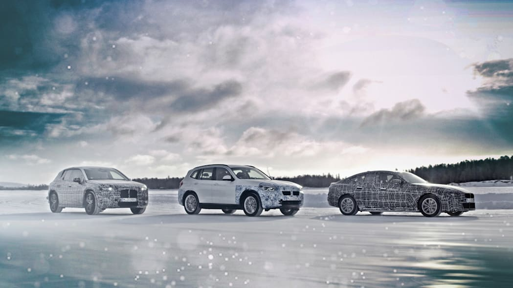 BMW iNext, i4 and iX3 shown in winter testing as we get some EV range details