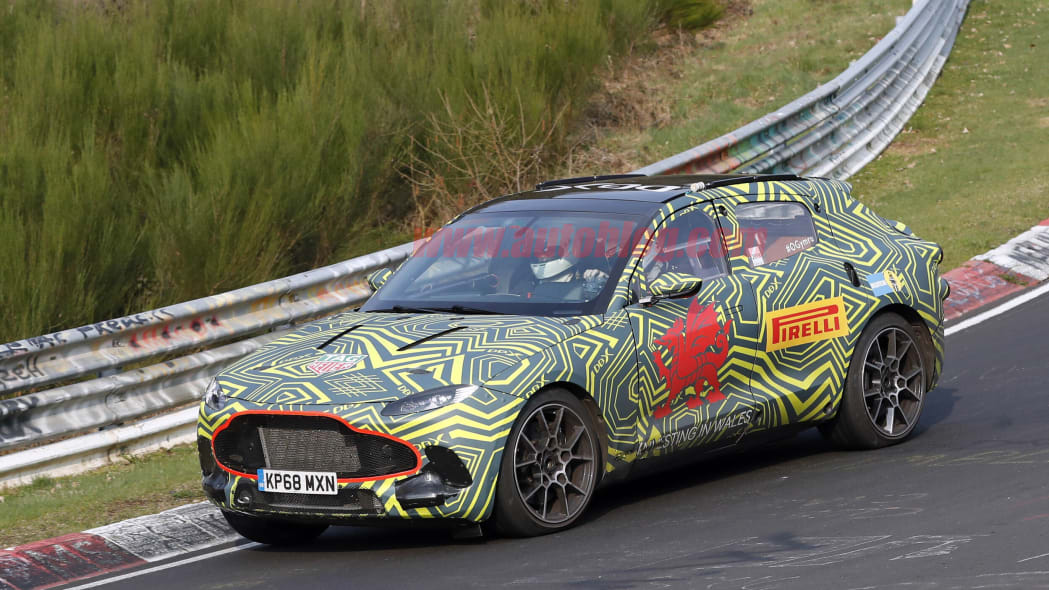 Aston Martin DBX spied with Mercedes-inspired interior exposed