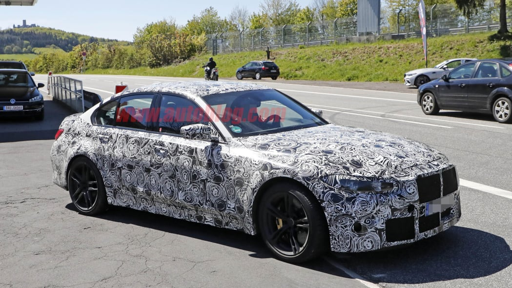 2020 BMW M3 spied inside and out