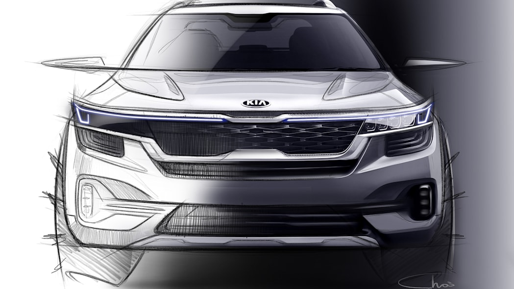 Kia Compact Crossover Sketches
