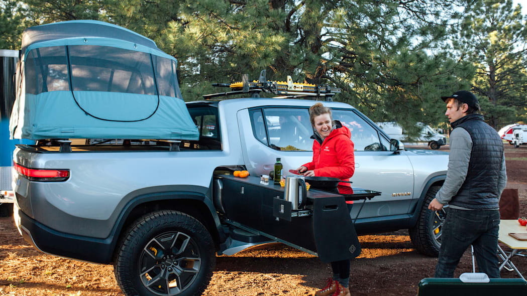 Rivian R1T at Overland West