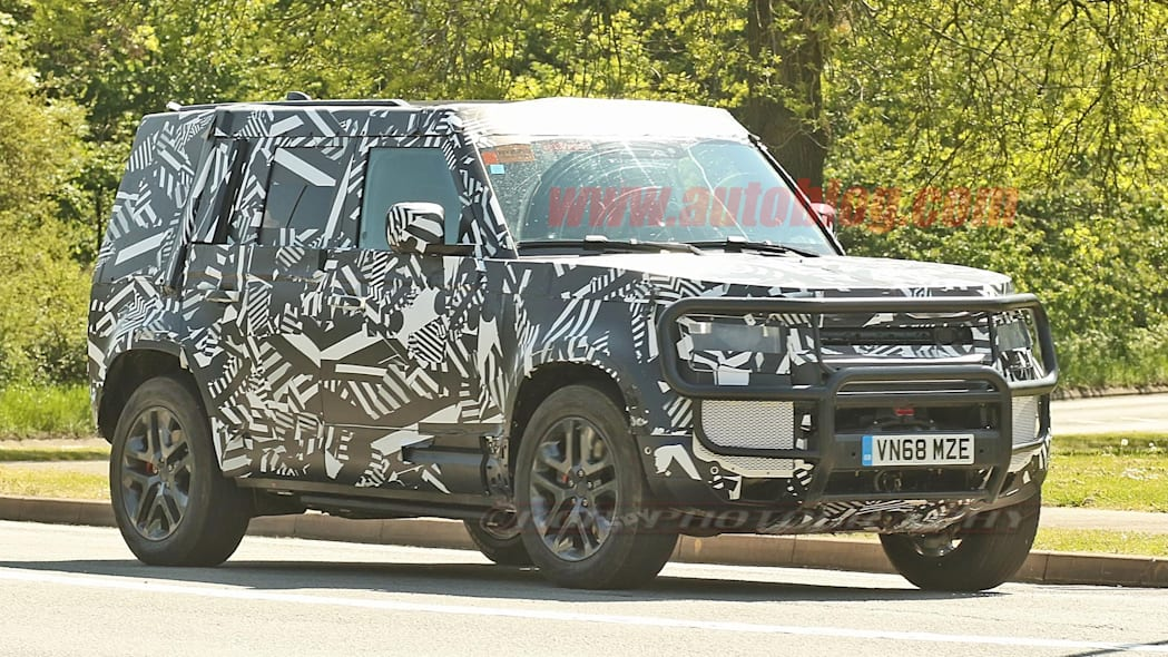 2020 Land Rover Defender hybrid spied with hidden winch