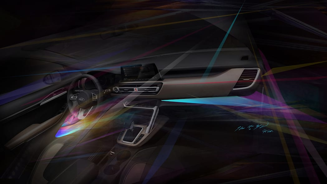 Interior Sketch of Kia's Small SUV