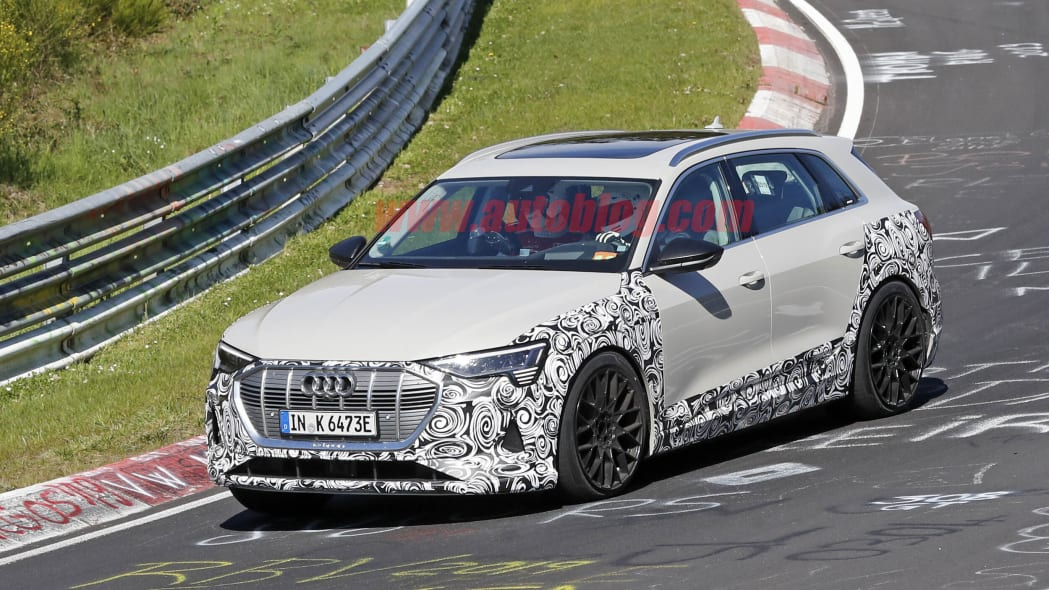 Audi E-Tron performance variant spied running around the Nurburgring