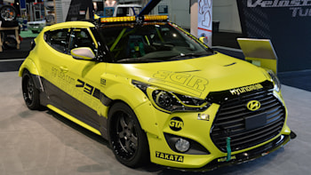 hyundai veloster turbos strut their sema stuff
