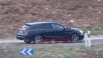 Mercedes Cla Shooting Brake Snapped While Testing Autoblog