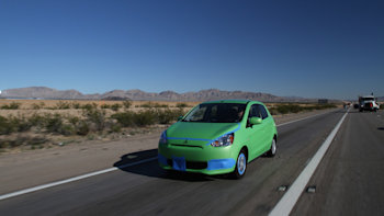 Mitsubishi Mirage fuel economy challenge winner duct tapes his way