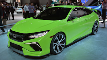 Honda Civic Concept Is Your Average Neon Green Turbocharged Show