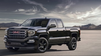 Black Gmc Sierra Elevation Edition Front Three Quarters