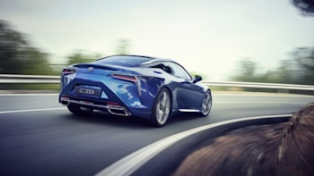 2018 Lexus Lc 500h Rear Three Quarter Driving