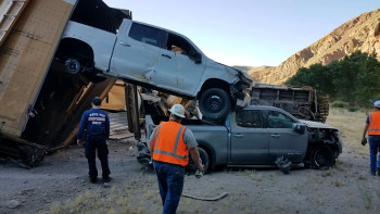 Gladiators, Wranglers, Silverados, Sierras damaged in Nevada