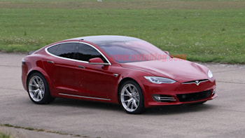 Tesla Model S spied prepping for Nurburgring lap attempt