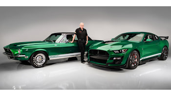 first ford mustang shelby gt500 off the line gets bespoke green paint autoblog first ford mustang shelby gt500 off the