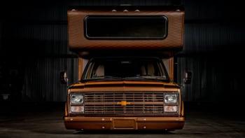 1983 Chevy C30 Brown Sugar Sema Custom Pickup Camper On Ebay Autoblog