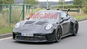 Porsche 911 Gt3 Rs Spy Photos Show Race Car Style Body Autoblog