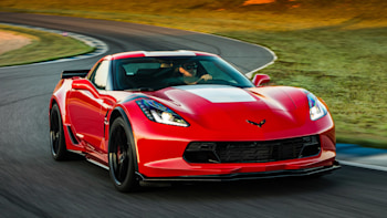 Red Corvette Grand Sport On Track
