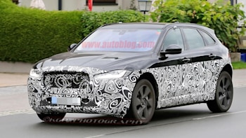 Jaguar X590 Electric Suv Spy Shots Three Quarter Front Exterior