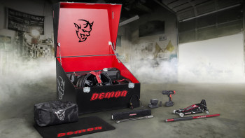 Dodge reveals a few of the goodies in the Demon crate | Autoblog