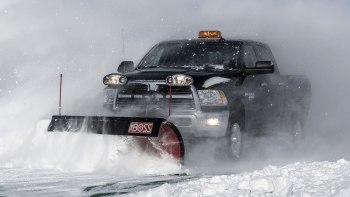 Plow in the truck