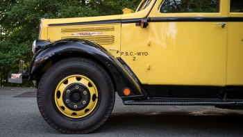 For sale: This 1937 Yellowstone tour bus is the ultimate